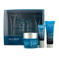 Face Oasis Daily Hydration System: Hydrating Treatment 50ml + Exfoliating Cleanser 30ml + Eye Moisture Replenishing Trea