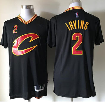 2 Kyrie Irving Basketball Jersey Cheap Throwback #2 Chinese Sportswear Men Shirts Stitched Sports Jerseys with Player Name Black Size S-XXL