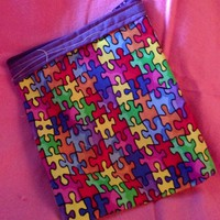 Autism Awareness Zipper pouch coin purse Puzzle Pieces