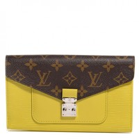 LOUIS VUITTON Epi Monogram Marie Rose Wallet Pistache