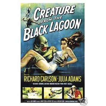 CREATURE FROM THE BLACK LAGOON MOVIE POSTER 27x41 in