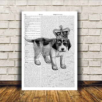 Cute print Dog poster Animal art Modern decor RTA173