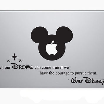 Walt Disney Laptop Decal, MacBook, Apple, Cool Stickers