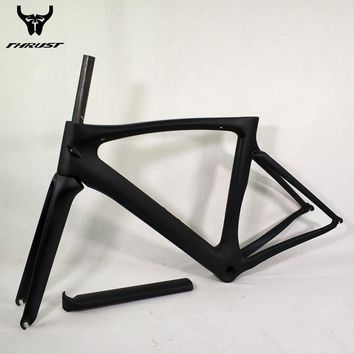THRUST T1000 Black Carbon Road Bike Frame 49 52 54 56 58cm