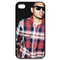 Chris Brown Image Iphone 4,4s Case Plastic New Back Case