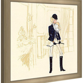 "Picture Perfect International Robert Best ""Riding Outfit Barbie"" Framed Fashion Wall Decor"