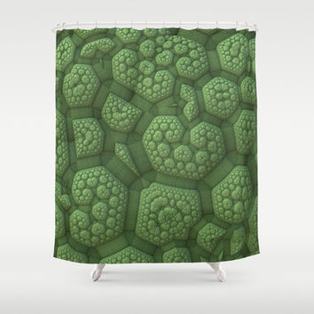 Dinosaur Skin Shower Curtain by Lyle Hatch