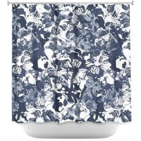 Shower Curtains By Julia Grifol Blue Butterflies II