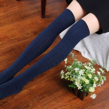 Knit Over Knee Thigh Socks