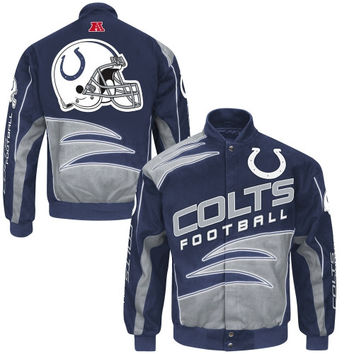 Indianapolis Colts Shred Cotton Twill Jacket – Black