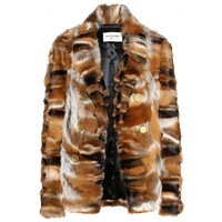 saint laurent - fox fur jacket