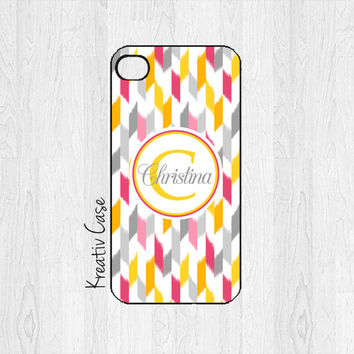 iPhone 4 Case, iPhone 4S Case - Chevron Ikat - Personalized iPhone Cover - K193