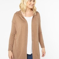 Camel Hooded Cardigan - Sweaters - Apparel