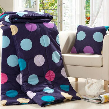 Polka Dot Car Air Condition Office Pillow As For Kid Adults Decorative Pillow Travel Car Pillow Folded Back Cushion Gift