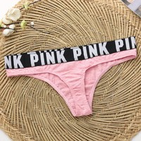 Pink Victoria's Secret Woman Multicolor Thong T-back Panty Underpant Brief