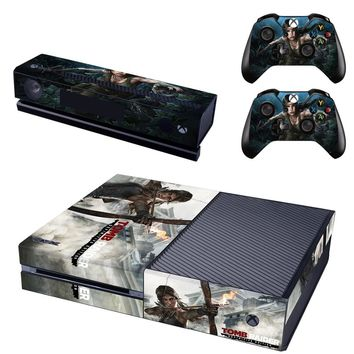 Tomb Raider Vinyl Cover Skin Sticker for Xbox One & Kinect & 2 controller skins