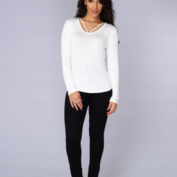 Slater Top - Ivory