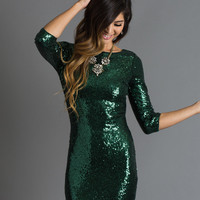 Arielle Green Sequin Dress