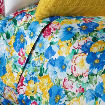 DCCK8BW QUEEN 300TC ASHLYN FLORAL FITTED SHEET
