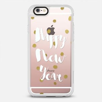 Happy new Year- white and gold dots iPhone 6s case by Nika Martinez | Casetify