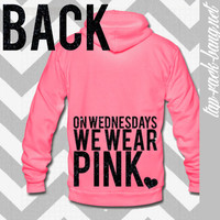 On Wednesdays We Wear Pink - Mean Girls - Women's Zip Hoodie