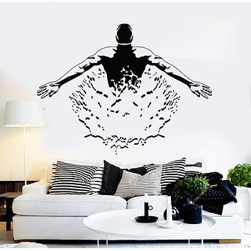 Vinyl Wall Decal Swimmer Pool Swimming Pool Swim Mural Stickers Unique Gift (ig4216)