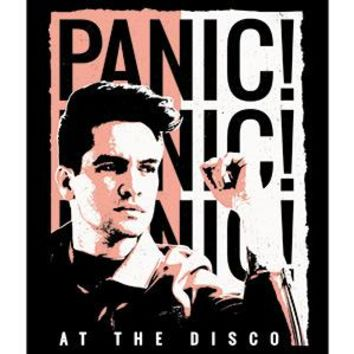 Panic At The Disco Vinyl Sticker Duotone Logo