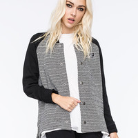 Vans Vand Bomber Womens Jacket Black  In Sizes