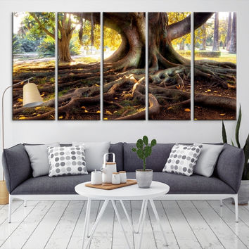 54113 - Forest Wall Art- Autumn Canvas Print- Forest Canvas- Forest Canvas Art- National Art Print- Canvas Print- Large Wall Art-
