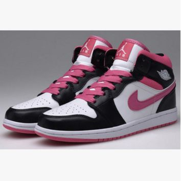 NIKE Women/Men Casual Running Sport Shoes Sneakers High tops Pink