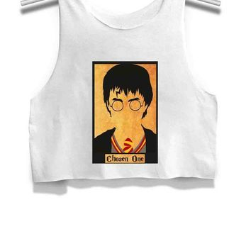 Harry Potter The Chosen One Womens Crop Tank Top