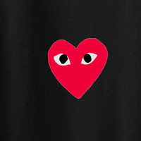 comme des garcons play heart logo converse trendy woke up like this tee t-shirt