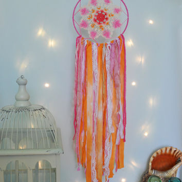 Large Dream Catcher, Dreamcatcher Wall Hanging, Boho Dreamcatcher, Dreamcatcher Mobile, Dream Big Little One, , Baby Shower Gift, Baby Girl