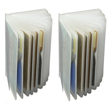 Plastic Wallet Insert Made in USA 12 Pages Picture Card SET OF 2 INSTRI 12PGS USA (C)