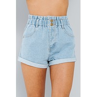 Luca Paperbag Shorts (Light Denim)