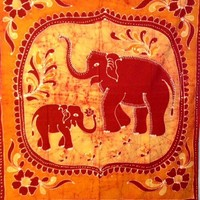Batik Baby Elephant Tapestry  - Mellow Mood