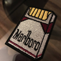 1 piece of cigarettes iron on patch/ badge