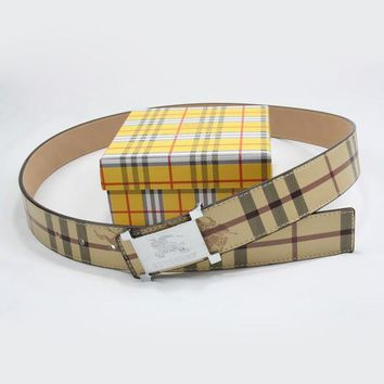 Day-First™ BURBERRY Woman Fashion Smooth Buckle Belt Leather Belt