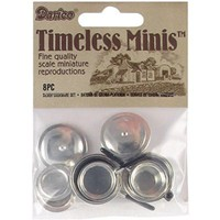 Darice 2318-43 Miniature Stovetop Cookware, Silver