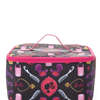 FOREVER 21 Barbie Travel Cosmetic Case Black/Pink One
