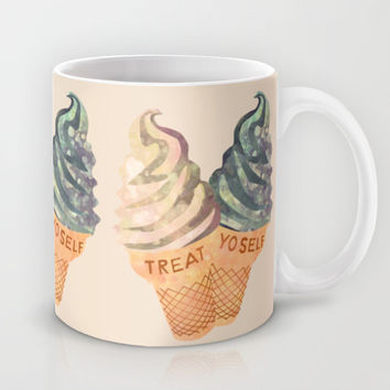 Treat Yo' Self Mug by Kanika Mathur