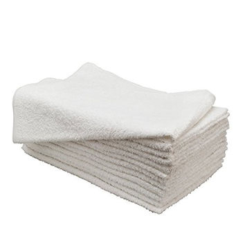 Huini 12 Pcs Microfiber Hair Drying Towels 14 * 30 Inches White