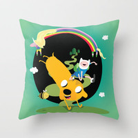Adventure time Throw Pillow by Maria Jose Da Luz