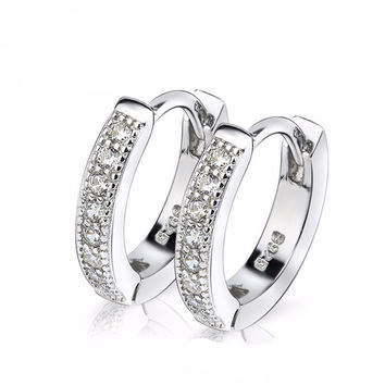 Genuine Sterling Silver Small Hoop Earrings