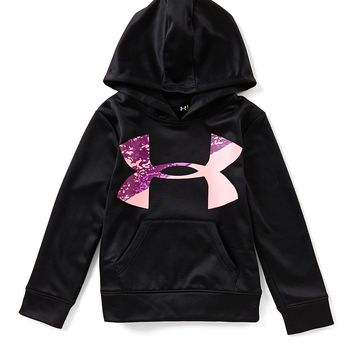 Under Armour Little Girls 4-6X Range Camouflage-Icon Hoodie | Dillards
