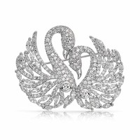 Bling Jewelry Swan Song Brooch