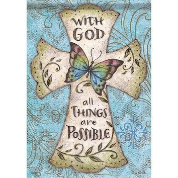 Garden Flag - With God All Things Are Possible