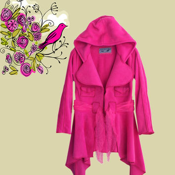 Womens designer jacket hoody bubble gum pink outerwear by tratgirl