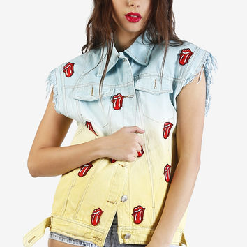 Start Me Up Tie Dye Denim Vest