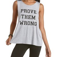 Prove Them Wrong Cross-Back Graphic Tank Top